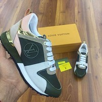 Louis Vuitton women's new invisible inner heightening casual sneakers