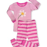 """Leveret Little Girl """"Blooming Flower"""" 2 Piece Pajama 100% Cotton (2-8 Years)"""