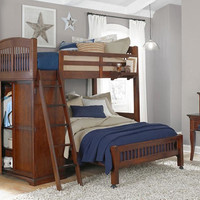 James Place Twin Size L Shape Loft Bed