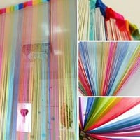 New 2M*1M Vogue Hot Curtain for Door Window Panel Living Room Divider Curtain String Line Decorative Curtain 6 Colors