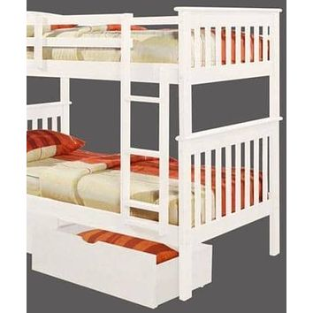 Eleanor White Bunk Bed with Storage