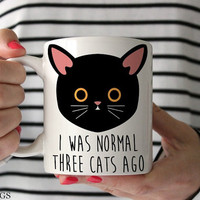 Funny Cat Mug Funny Mug Cat Lover Gift Cat Gift Cat Owner Gift Crazy Cat Lady Mug Kitty Mug Meow Mug Cute Cat Mug Black Cat Coffee Mug c411