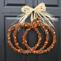fall wreaths, pumpkin Thanksgiving wreaths, front door decorations