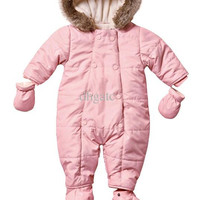 Baby Cotton Hooded Romper Infants Coveralls Rose Climbing clothes kids Christmas gifts Free shipping