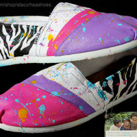 Wild Thing TOMS with Zebra print
