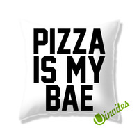 Pizza Is Bae Square Pillow Cover