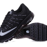 Tagre™ NIKE Trending Fashion Casual Sports Shoes AirMax Toe Cap hook section knited Black White hook