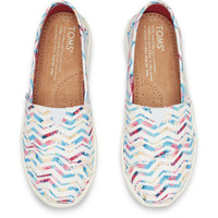 WHITE POLY CANVAS FLORAL CHEVRON YOUTH CLASSICS