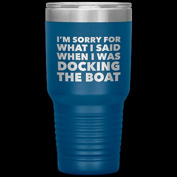 Boating Gifts Funny Boater Tumbler for a Boat Owner Travel Coffee Cup 30oz BPA Free