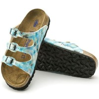 DCCK1 Birkenstock Florida Soft Footbed Birko Flor Pixel Blue 1004195 Sandals