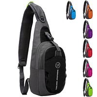 Unisex Waterproof Nylon Sling Chest Bag Back Travel Climb Cross Body Messenger Shoulder Pack Chest Bags Men Women Couple Bags