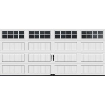 Clopay Gallery Collection 16 ft. x 7 ft. 6.5 R-Value Insulated White Garage Door with SQ24 Window-GR1LP_SW_SQ24 - The Home Depot