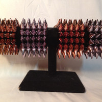 Wide Spiked Wrist Band