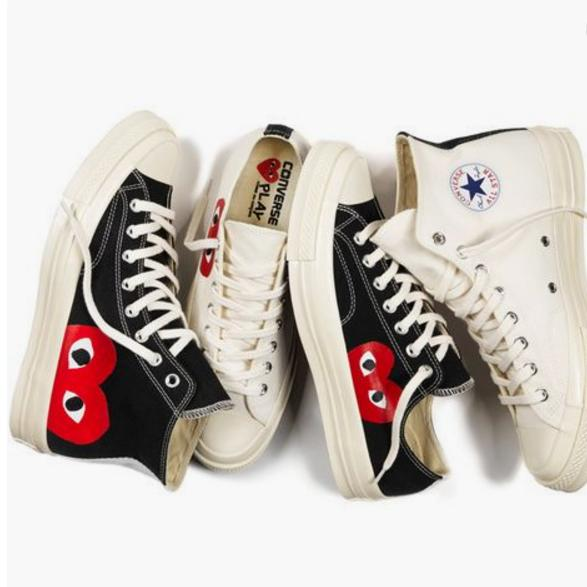 Image of Converse Play Fashion Loving Heart Reflective Sneakers High Top With Low Top Sport Shoes AA-SDDSL-KHZHXMKH