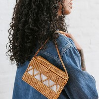 Straw Structured Crossbody Bag   Urban Outfitters