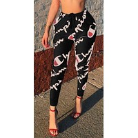 Champion Women Fashion Print Sport Stretch Pants Trousers Sweatpants Joggers