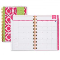 Day Designer Pink Trellis CYO Weekly/Monthly 5 x 8 Planner July 2015 - June 2016