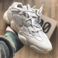 Adidas Yeezy Boost 500 Desert Rat Fashion Women Men Casual Sneakers Sport Shoes Beige I/A