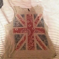 🎉3 for $15🎉 Union Jack muscle tank