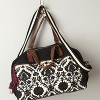 Jasper & Jeera Reina Embroidered Overnighter in Black Size: One Size Accessories