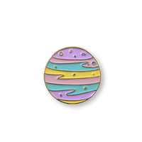PRE-ORDER: PASTEL Planet - Enamel Pin, Lapel pin.