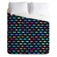 Budi Kwan Swimming With The Fishes Duvet Cover
