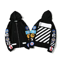 Off White Badge Hoodie Sweater S--XL