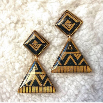 PYRAMID AZTEC EARRING FOR WOMEN