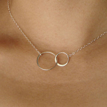 Forever Linked Together Circles in Sterling Silver by Popsicledrum