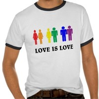 Love is love. LGBT Tee Shirt from Zazzle.com