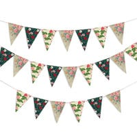 Party Flags | Floral Wall Decorations