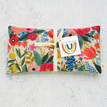 Oversized Eye Pillow in Garden Party Canvas and Linen