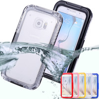 S7/Edge Waterproof Swim Diving Case For Samsung Galaxy S7 G9300/ S7 Edge Clear Protective Front & Back PC+ TPU Cover Accessories