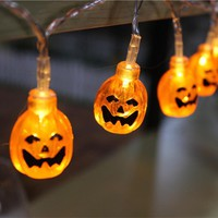 1 PC 2.5 / 1.2 Meters Pumpkin 20 / 10 LED String Lights Halloween Party Decorative Lights Warm White Party & Holiday DIY Decor