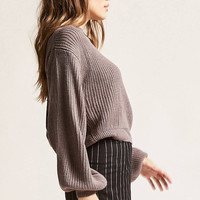 Ribbed Twist-Hem Sweater