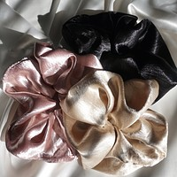3 Sets Oversized Puff Scrunchies