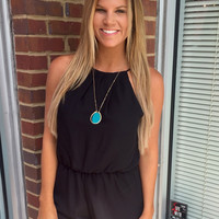 Calm, Cool, Collected Romper - Black