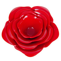 Red Rose Stacking Bowls Serving Set - PLASTICLAND