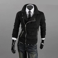 Winter Men Casual Hoodies Men's Fashion Zippers Jacket [6528674627]