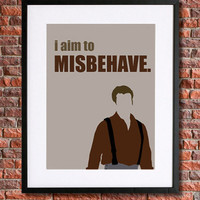 "Firefly/Serenity/Browncoat Art |  8x10 Instant Download Printable Poster | Quote ""I aim to Misbehave"" Joss Whedon's Firefly 