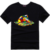 rubix cube melting Big Bang Theory Sheldon Cooper Super Hero Tee t-shirt