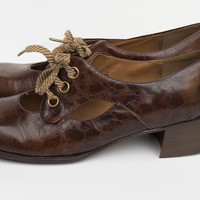 Vintage Brown Mary Jane's - Size 7 from Kitty Gone Bad