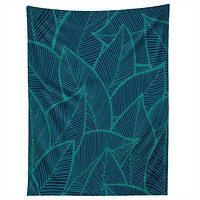 Arcturus Blue Green Leaves Tapestry