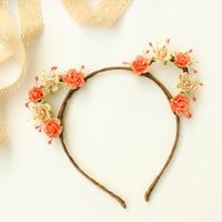 Summer Carnival Rose Bear Ears Headband