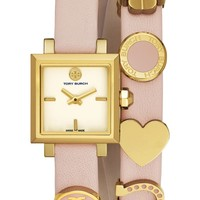 Tory Burch 'Saucy' Double Wrap Leather Strap Watch, 25mm | Nordstrom
