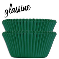 Forest Green Glassine Baking Cups