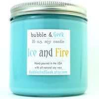 Ice and Fire Soy Candle - 16 oz. jar