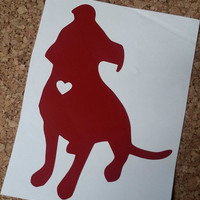 Pitbull Love Decal | Pit Decal | Dog Decal | Animal Decal | Puppy Decal | Pit bull | Animal Love | Car Decal | Sticker | Pitbull heart decal