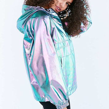 Silence + Noise Iridescent Packable Windbreaker Jacket - Urban Outfitters