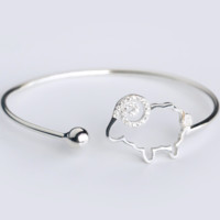 Cute goat 925 sterling silver bracelet, a perfect gift